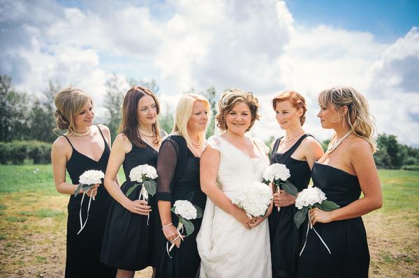Fun Superhero Wedding Black Bridesmaid Dresses http://hollydeacondesign.com/