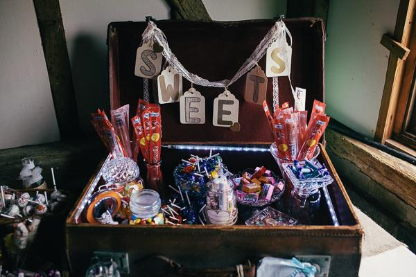 Fun Superhero Wedding Sweets Suitcase http://hollydeacondesign.com/