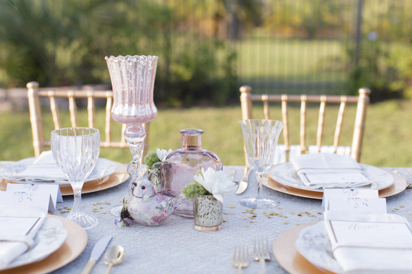 Mint Gold & Pink Wedding Table Ideas