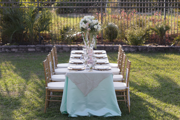Mint Green Wedding Tablescape