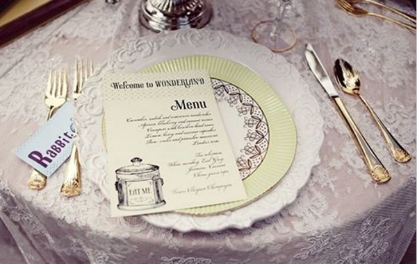 Vintage Wedding Table Settings